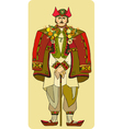 Man National Costume vector image