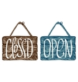 Open and closed sign vector image