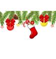 Christmas branch border vector image