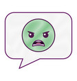 speech bubble angry emoticon face vector image