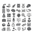 business icons management marketing career vector image