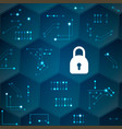 cyber security data protection concept vector image
