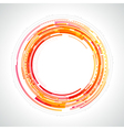 Abstract technology circles vector image