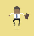 african businessman jumps up with spring vector image