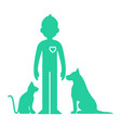 animals help man vector image vector image