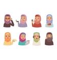 Arabic woman set vector image vector image