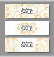 autumn sale banner set voucher offer or coupon vector image