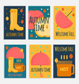 autumn stuff banners in flat style vector image vector image