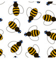 bee pattern vector image