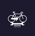 bicycle repair service logo vector image