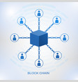 blockchain technology concept vector image vector image