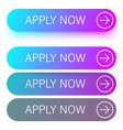 blue and purple apply now buttons isolated on vector image vector image
