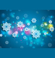 bright blue shiny christmas winter background vector image vector image