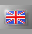 British Flag Glossy Button vector image vector image