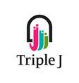 business logo design letter j vector image vector image