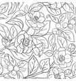 camellia branches pattern vector image