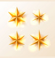 christmas golden stars set vector image vector image
