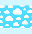 clouds in sky white clound on blue seamless vector image vector image