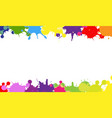 colorful blobs border with white background vector image vector image