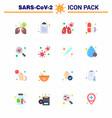 coronavirus prevention 25 icon set blue scan find vector image vector image