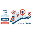 covid19-19 new york state usa isometric map vector image vector image