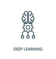 deep learning thin line icon creative simple vector image vector image
