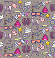 doodles icons seamless pattern vector image vector image