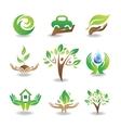 Eco Design Elements vector image vector image