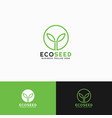 eco seed - litle plant logo template vector image vector image