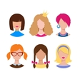 Female avatars vector image vector image