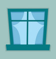 flat window vector image
