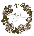 floral wreath colored roses vector image vector image