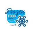 frozen food product premium since 1935 sticker vector image vector image
