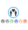 gay lovers rounded icon vector image vector image