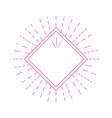 geometric label emblem decoration line vector image vector image