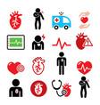 heart disease heart attack cardiovascular diseas vector image vector image