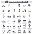 heavy and power industry black icon set vector image