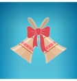 Holiday Jingle Bells on a Blue Background vector image