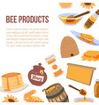 honey and bee products vector image