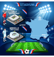 Lille Marseille Soccer Stadium vector image vector image