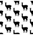 llama silhouette seamless pattern vector image