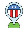 location pin united state independence day vector image vector image