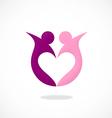 love partner sharing logo vector image vector image