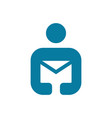 mail figure man logo vector image vector image