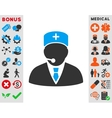 Medical Manager Icon vector image vector image