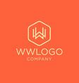 monogram initial ww logo design vector image vector image