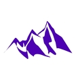 mountain peaks and cliffs vector image vector image