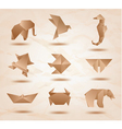 origami kraft animals vector image