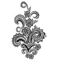 ornament with branching elements vector image