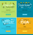 our team startup and idea support web poster vector image vector image